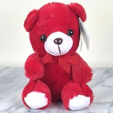 """Plush Red Sitting Teddy Bear Toy - 6"""" tall - Brand New with Tag"""