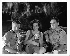 MAUREEN O'SULLIVAN AS JANE - SIMINUDE WITH 2 MEN – TARZAN – 80s REPRO PHOTO NM