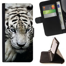 TIGER ANIMAL WALLET CASE COVER FOR SAMSUNG GALAXY S7 EDGE