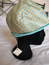 BESPOKE STRIPED SATIN HAT Probably 1960s
