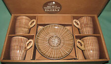 Potiron Paris Boxed set 4 teacups Tea or coffee Cups and Saucers Brown Delicate