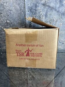 RARE TSR INC LAKE GENEVA PRODUCT CARDBOARD SHIPPING BOX ad&d d&d gygax