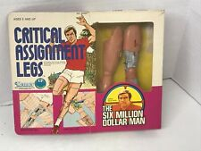 Six Million Dollar Man Critical Assignment Legs in box Kenner 1970's