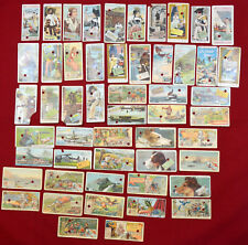 ANTIQUE VINTAGE CHOCOLAT TOBLER CARDS SET OF 52 pcs LOT RARE