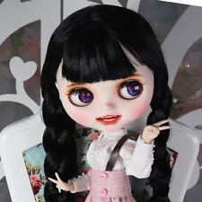 "12"" Blythe Nude Doll from Factory Black Long Hair Eyebrow Cute Smile Mouth+Teeth"