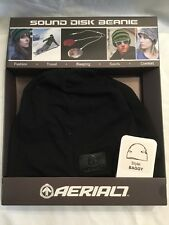 Aerial 7 Sound Disc Beanie larghi stile nero rosso integrato auricolari iPhone mp3