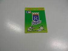 1990 Fleer Baseball Logo Stickers Kansas City Royals Baseball Quiz on back