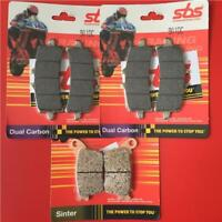 HONDA CBR 1000 RR SP 14 > Front Rear Set Brake Pads SBS DUAL CARBON 901DC 834LS