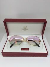 New Vintage CARTIER PANTHERE PM ROSE GOLD Limited SERIES SUNGLASSES 1980s Mirror