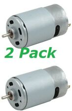 2pc 18v DC Motor 550 High Torque 20k RPM RC Car Drill Tool 1/8in Round Shaft