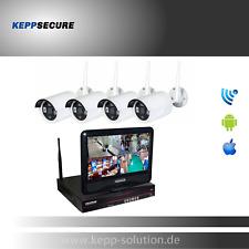 Funk Überwachungskamera, Videoüberwachung Set inkl. 4x Kameras