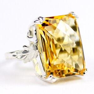 CITRINE Sterling Silver Ring -Handmade • SR039