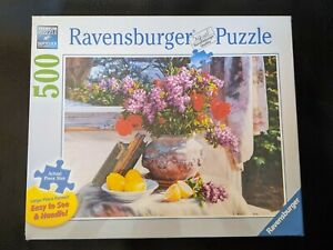 Ravensburger Jigsaw Flower Still Life Jig Saw Puzzle 500 Large Piece Format NEW