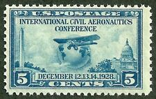 sc#650 airplane globe 1928 us/usa stamp og mint nh mnh