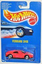 Hot Wheels 1990 Hot Pink Ferrari 348 Blue Card MOC VHTF UH wheels No Collector #