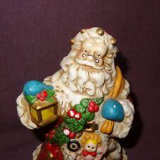 "Santa Claus Christmas Bell Lantern 5""  Ceramic Holiday"