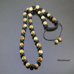Herren Picture Jaspis Edelstein Perlen Halskette Shamballa verstellbar Kette