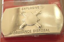 USN US NAVY USS SHIP SHORE AIR EXPL ORD DISPOSAL RATE SPECIALTY BELT BUCKLE