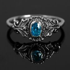 Sapphire 925 Sterling Silver Designer Gemstone Band Ring Boxed Gift Mens Ladies