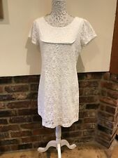 Monsoon Lovely Ladies White Summer Dress Size 14 Excellent Condition