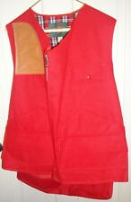 WFS Red Hunting Vest XL (46 - 48), Rubberized for Rain (MINT)