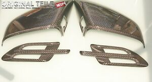 NEW Bentley Bentayga Carbon Fibre Mirror Covers +Side Wings Genuine OEM 4pcs set