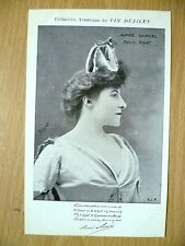 Postcards of Edwardian Theatre & Opera Stars- AIMEE SAMUEL PALAIS ROYAL
