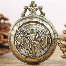 Antique Retro SWORD ART ONLINE Men Boy Analog Quartz Pocket Watch 30cm Chain