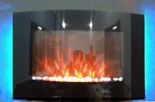 NEW 2018 LED FLAMES 7 COLOUR SIDE LIT TRUFLAME CURVED WALL MOUNTED ELECTRIC FIRE