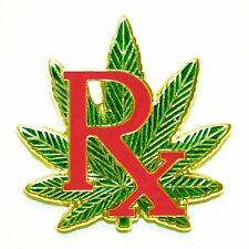 marijuana pin medical Lapel hat Cannabis leaf medicinal legalize Rx 420