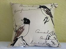 CARDINAL BIRD DOCUMENT FABRIC ACCENT/TOSS  PILLOW -  SO CUTE - NEW