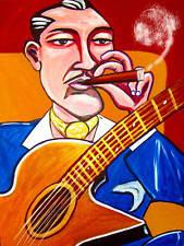 DJANGO REINHARDT CIGAR PRINT poster gypsy jazz selmer maccaferri guitar cd