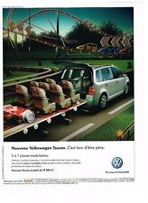 PUBLICITE ADVERTISING  2007   VOLKSWAGEN    TOURAN   5 à 7  places