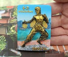 HONG KONG, BRUCE LEE, Tourist Travel Souvenir 3D Resin Fridge Magnet Craft Gift