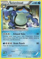 BW DRAGONS EXALTED POKEMON REVERSE HOLO RARE CARD - SEISMITOAD 36/124