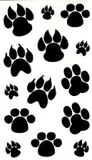 Dog & Bear Paw Good Luck 2 Temporary Fake Tattoos Waterpoof Body Art Transfer