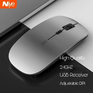 2.4GHZ NIYE Wireless Mouse Ergonomic USB mice Silver color For Laptop Computer