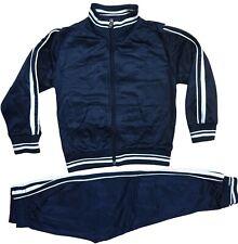 Kinder Jogginganzug Trainingsanzug Sportanzug Jungen Mädchen Jacke Hose Blau