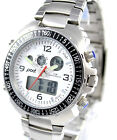 Pod Mens Stainless Steel Chronograph Watch, 100M, Alarm, Backlight, Day Date, EL