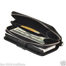 Housse portemonnaie avec porte cartes et lanière pour iPhone 5 et iPhone 5S