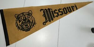 1930-40s Vintage RARE Original Wool University Of Missouri Pennant Tigers Mizzou