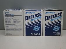 Lot of (3) Defense DL4632 Engine Oil Filter PH3429 PH3675 V-123 V-4007 CF45