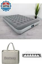 Air Bed Mattress With Built In AC Pump Rest Inflatable Airbed Size Queen Pillow