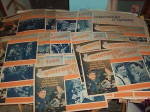 ATTERRAGGIO DI FORTUNA set completo 24 fotobuste piccole e busta originale 1939