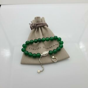 DAVID YURMAN Women's Spiritual Bead Bracelet Green Onyx Adjustable size