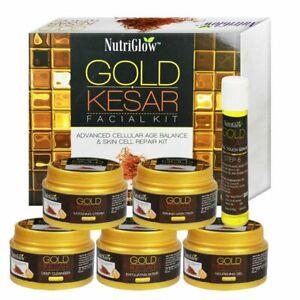 NutriGlow Gold Kesar Facial Kit Instant Radiance Shine & Glow Facial Kit 250gm