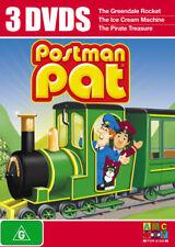 Postman Pat Triple Pack DVD R4 Greendale Rocket/Ice Cream Machine/Pirate Treasur