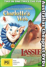 Charlotte's Web (Animated) / Lassie DVD NEW, FREE POSTAGE WITHIN AUSTRALIA REG 4
