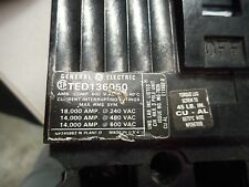 GE  50A  600V TED136050 CIRCUIT BREAKER