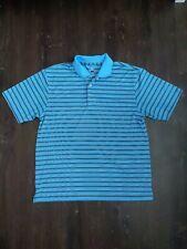 Pga Tour Mens Polo Shirt Large Striped Golf Performance Short Sleeve